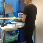 A photo of our diy stand up desk