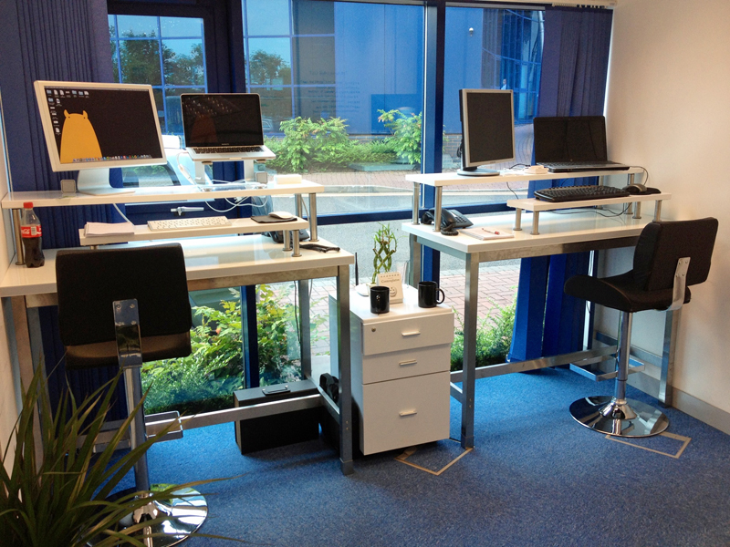 Stand Up Desks: Our DIY Solution & How it Could Change Your Life