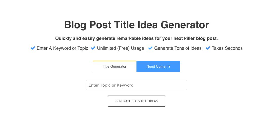 FATJOE Blog Title Generator