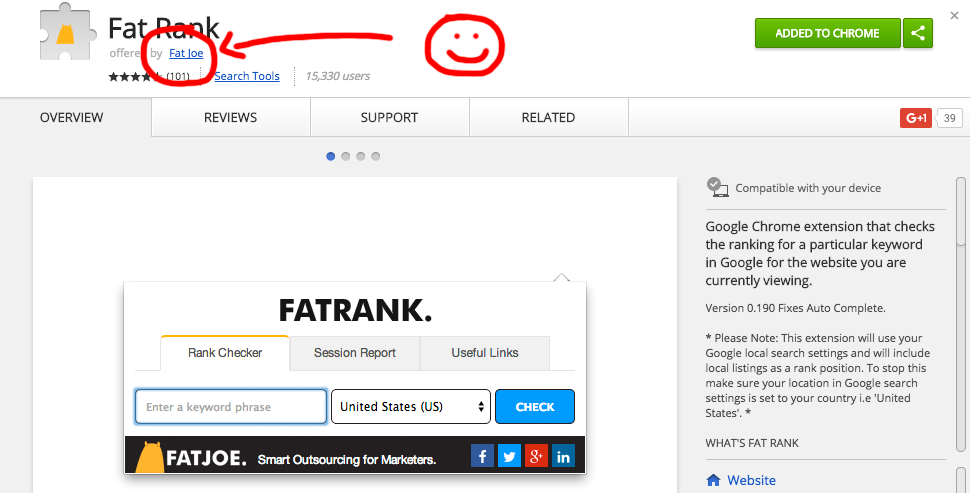 FATRANK Chrome Extension