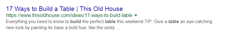 17 Ways to Build a Table URL Example