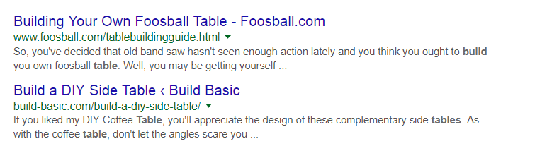 Building Your Own Football Table URL Example