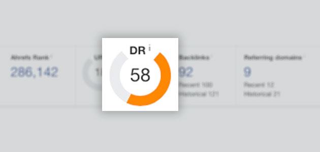 Ahrefs Domain Rating SEO metrics