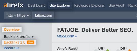 Ahrefs Site Explorer Backlinks Profile SEO Metrics