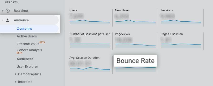 Organic Bounce Rate Google Analytics SEO Metrics