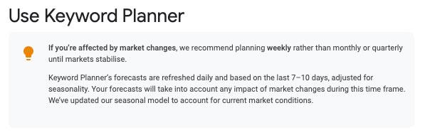 Google Kwyrod Planner updates to SEO metrics according to Google