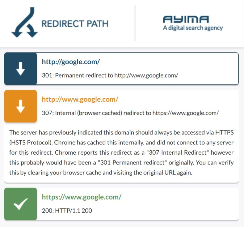 Redirect Path screenshot