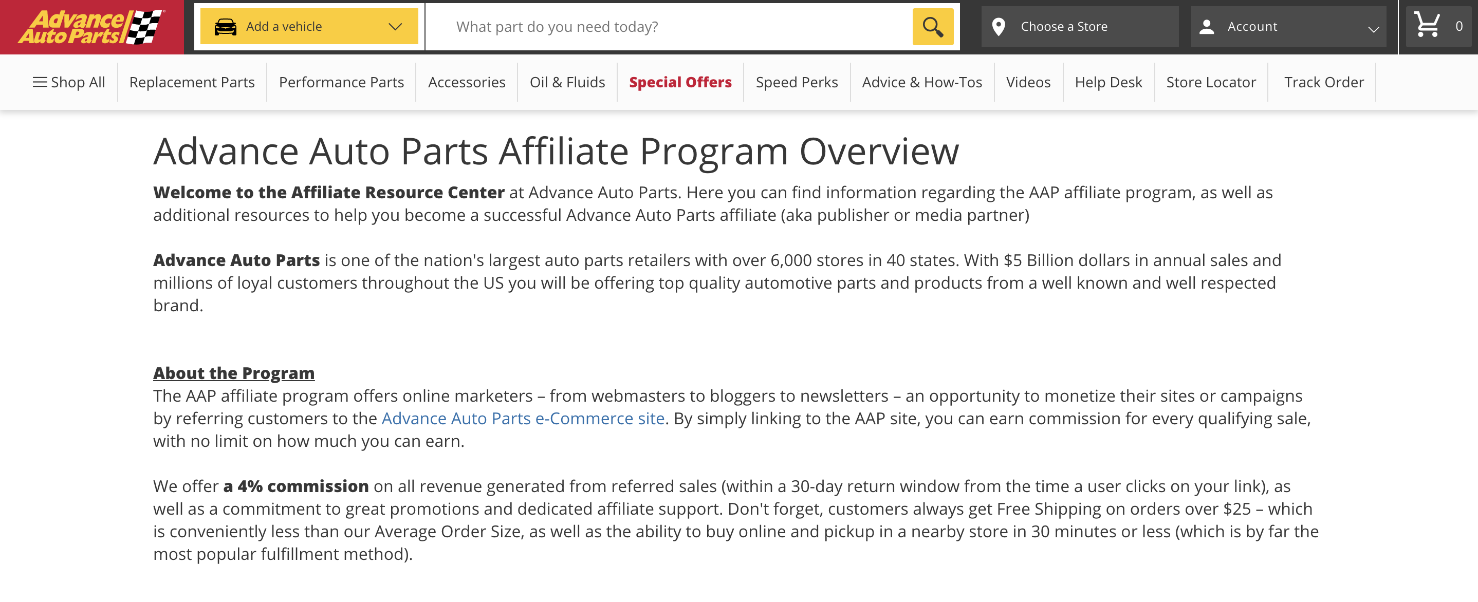 Advanced Auto Parts Affiliates