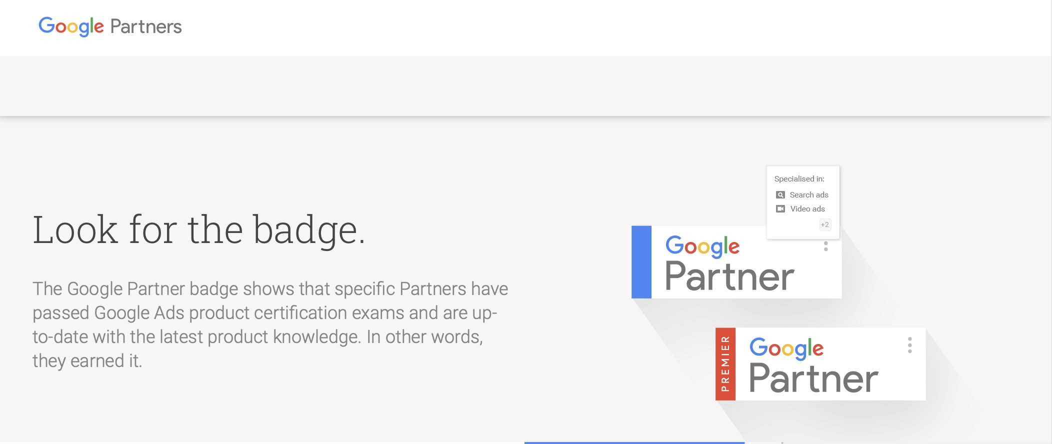 An example of an accreditation you can get to get more SEO clients