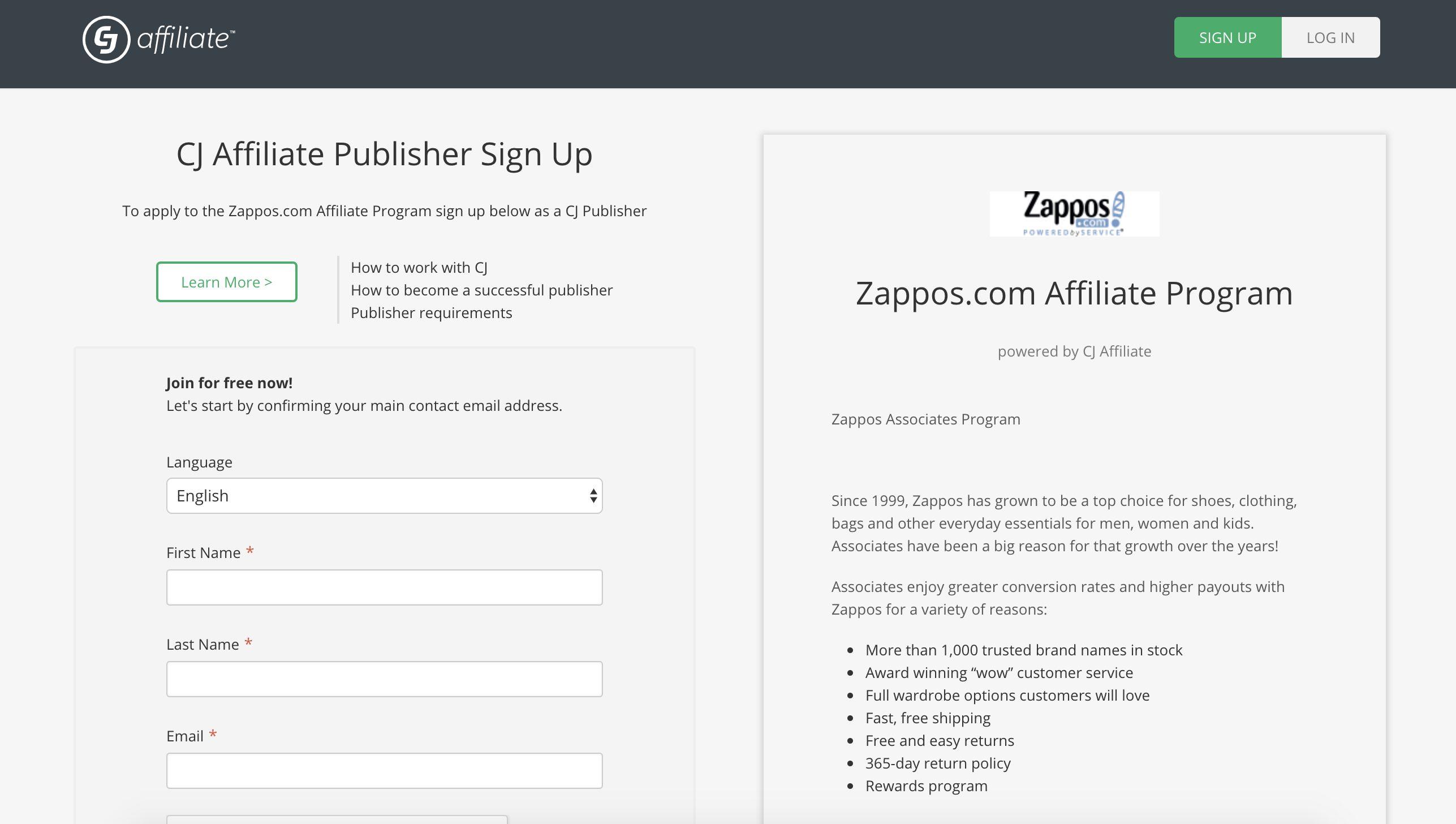 Zappos Affiliates