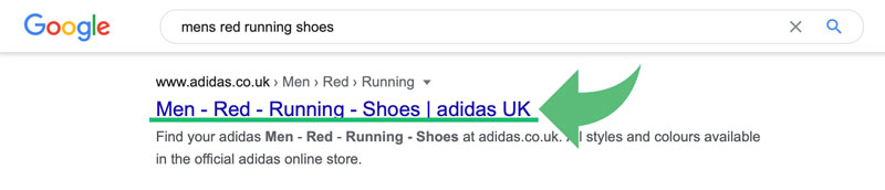 An example of a title tag in Google SERPs