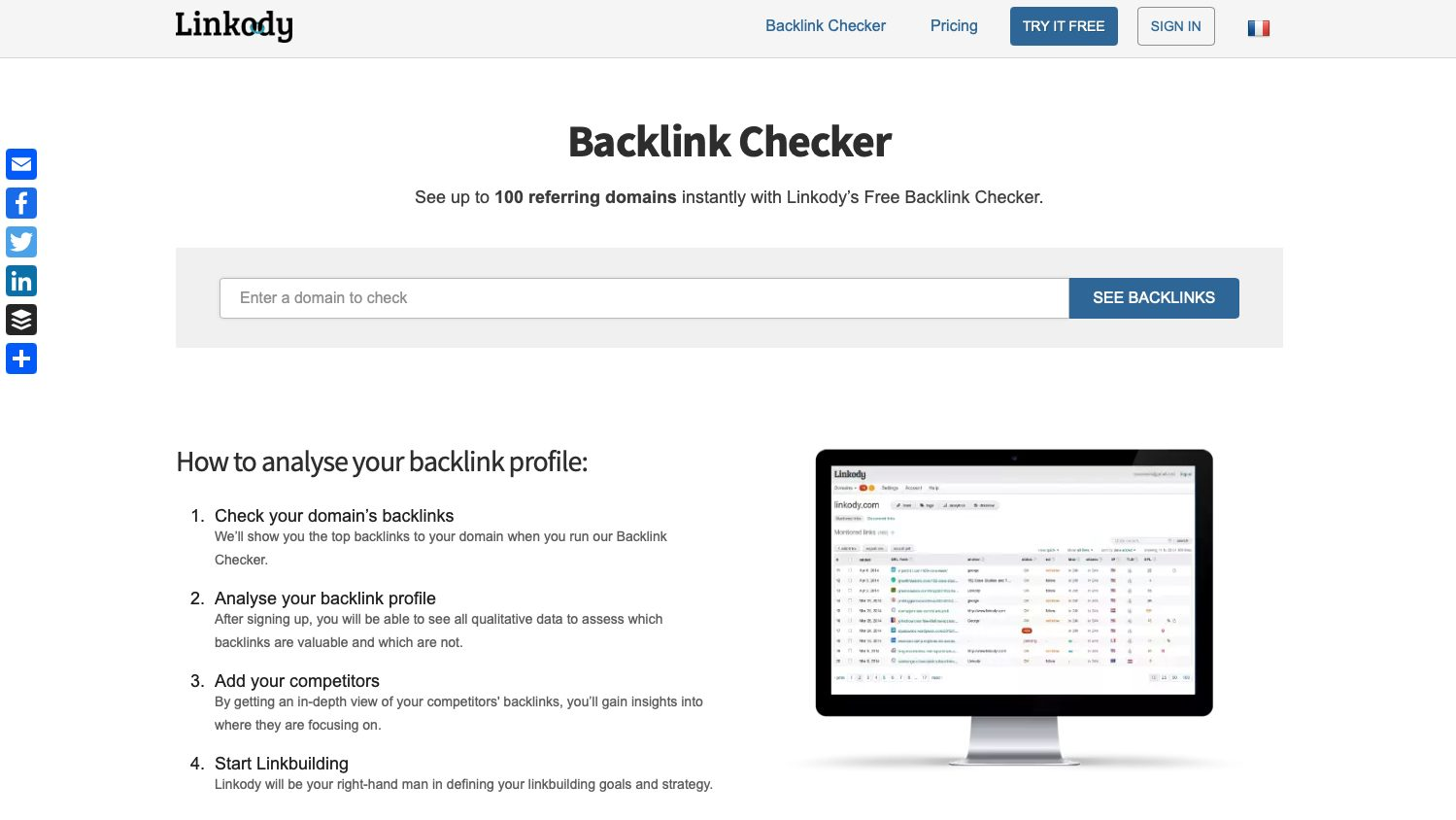 Linked Backlink Checker