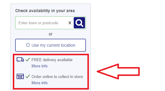 An example of how you can use shipping information within a product description to add more detail